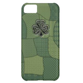 愛らしく幸運なアイルランドのシャムロックのパッチワーク iPhone5Cケース
