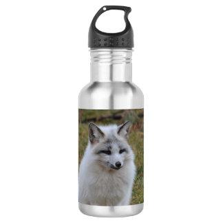 愛らしく白いキツネ ウォーターボトル