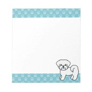 愛らしく白いマルタ犬 ノートパッド