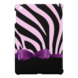 愛らしく陽気でエレガントなピンクのシマウマの紫色の弓 iPad MINI CASE