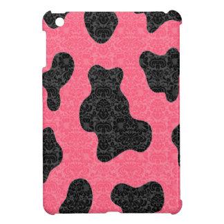 愛らしく陽気でチャーミングでかわいい牛ダマスク織 iPad MINIカバー