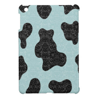 愛らしく陽気でチャーミングでかわいい牛ダマスク織 iPad MINI CASE