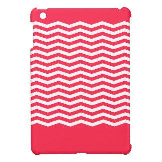 愛らしく陽気な珊瑚のシェブロンのモノグラム iPad MINIカバー