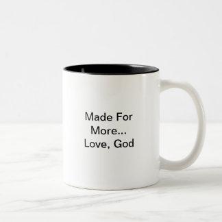 …愛を多くのために作られる、神 ツートーンマグカップ