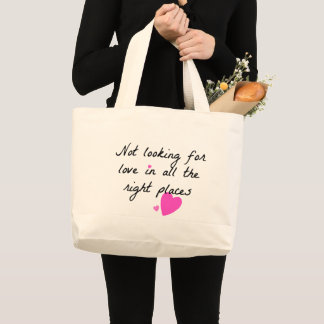 愛を捜さないこと ラージトートバッグ