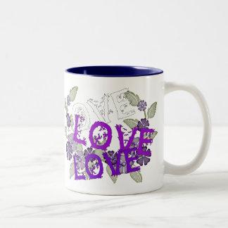 愛を育てて下さい ツートーンマグカップ