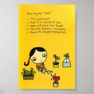 愛を育てる方法 ポスター