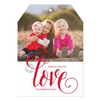 愛を送って|のバレンタインデーの写真カードに付けて下さい カード