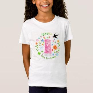 愛を運ぶピンクのポスト Tシャツ