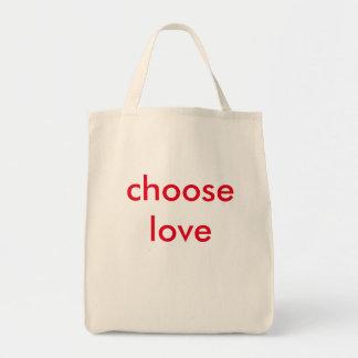 愛を選んで下さい トートバッグ