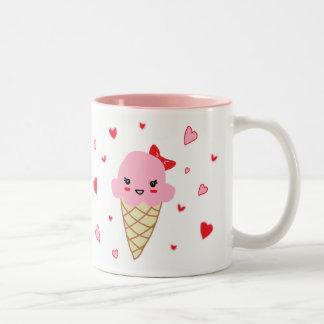 愛アイスクリーム ツートーンマグカップ
