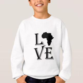 愛アフリカ大陸地図 スウェットシャツ