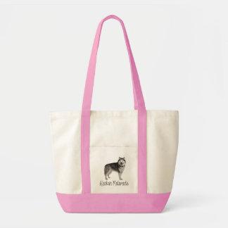 愛アラスカンマラミュートの小犬のトートバック トートバッグ