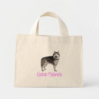 愛アラスカンマラミュートの小犬のトートバック ミニトートバッグ