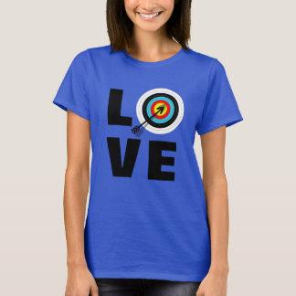 愛アーチェリーのスポーツターゲット板カッコいいのグラフィック Tシャツ