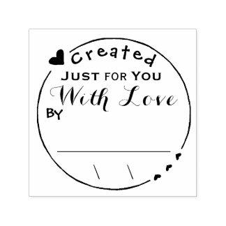 愛アートワークの署名か日付と作成される セルフインキングスタンプ