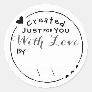 愛アートワークの署名か日付と作成される ラウンドシール