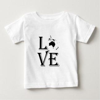 愛オセアニア大陸地図 ベビーTシャツ