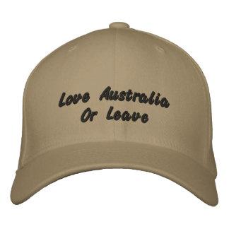 愛オーストラリアか許可、ロゴの野球帽 刺繍入りキャップ