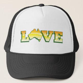 愛オーストラリア素晴らしいオーストラリア愛ハートの地図! キャップ