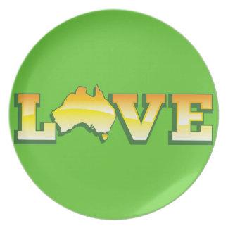 愛オーストラリア素晴らしいオーストラリア愛ハートの地図! プレート