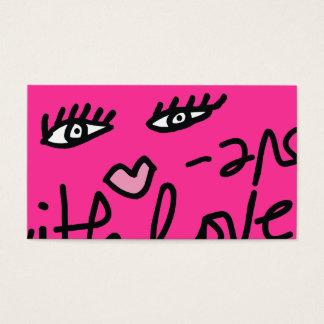 愛カスタマイズ可能なショッキングピンクの311空世辞 名刺