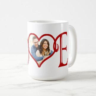 愛カスタムなハートの写真 コーヒーマグカップ