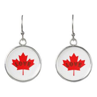 愛カナダ日のアメリカハナノキの葉のイヤリング イヤリング