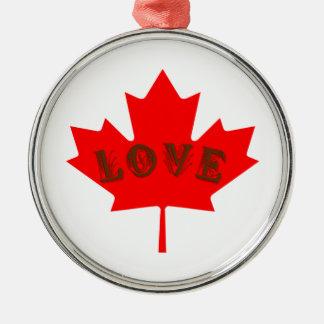愛カナダ日のアメリカハナノキの葉のオーナメント メタルオーナメント