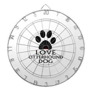 愛カワウソ猟犬犬のデザイン ダーツボード