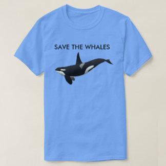 愛クジラか。 井戸はそれらを救うために割り当てます Tシャツ