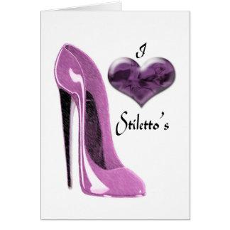 愛クワの小剣の靴およびハート カード