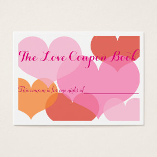 愛クーポンの綴り チャビ―名刺