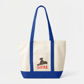 愛グレートデーンの小犬のトートバック トートバッグ