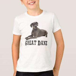 愛グレートデーンの小犬の男の子のTシャツ Tシャツ