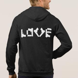 愛コレクションの黒のフード付きスウェットシャツ パーカ