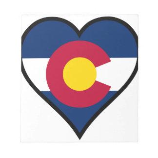 愛コロラド州 ノートパッド
