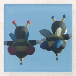 愛コースターの蜂 ガラスコースター