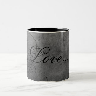 愛コーヒー・マグ: 愛のたそがれのコレクション ツートーンマグカップ