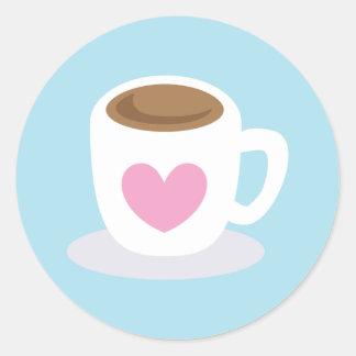 愛コーヒー ラウンドシール