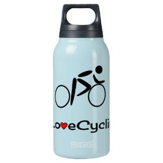 愛サイクリングのピクトグラムのサイクリスト 断熱ウォーターボトル