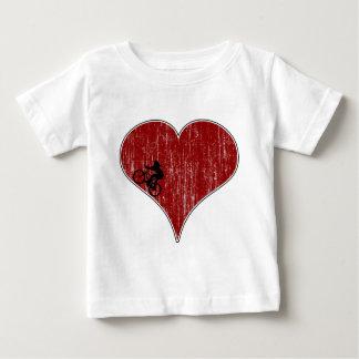 愛サイクリングの循環 ベビーTシャツ