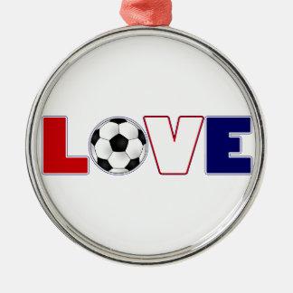 愛サッカー米国 メタルオーナメント
