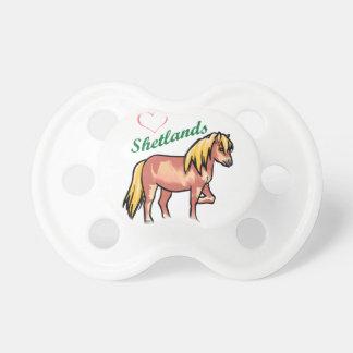 愛シェトランド諸島子馬 おしゃぶり