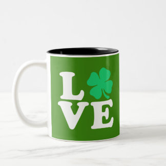 愛シャムロック-セントパトリックの日 ツートーンマグカップ
