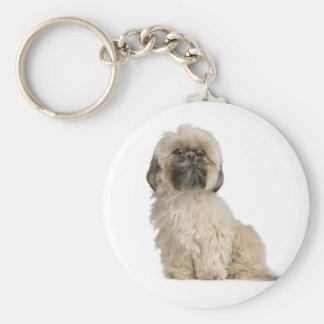 愛シーズー(犬)のTzuの小犬のカスタムKeychain キーホルダー