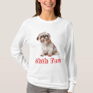愛シーズー(犬)のTzuの小犬のTシャツ Tシャツ