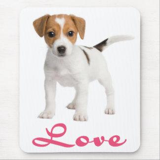 愛ジャックラッセルテリアの小犬のマウスパッド マウスパッド