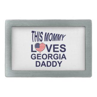 愛ジョージアのお父さん 長方形ベルトバックル