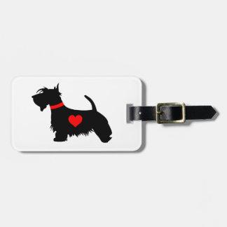 愛スコッチテリア犬の荷物のラベル ラゲッジタグ